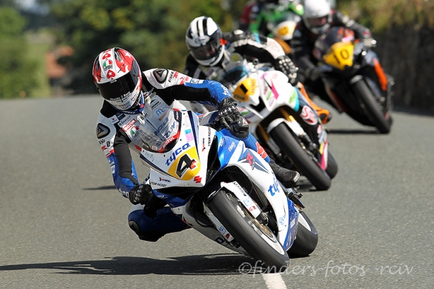 Conor Cummins leads Michael Dunlop