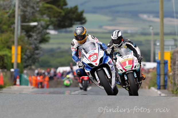 Guy Martin leads Michael Dunlop